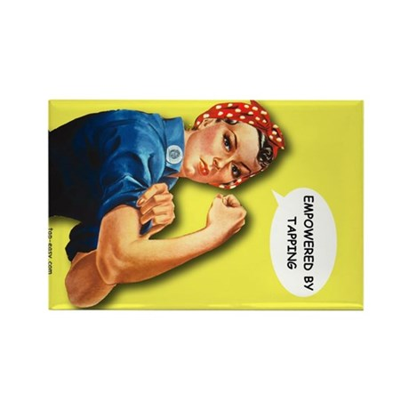 Empowered by tapping Rectangle Magnet (100 pack)