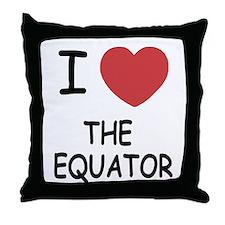 I heart the equator Throw Pillow
