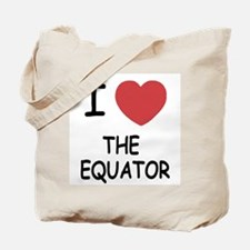 I heart the equator Tote Bag