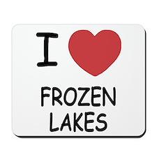 I heart frozen lakes Mousepad