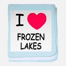 I heart frozen lakes baby blanket