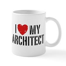 I Love My Architect Small Mug