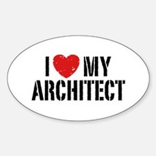 I Love My Architect Decal