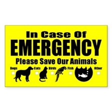 Pet Emergency Rectangle Decal