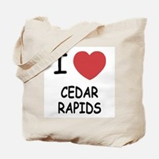 I heart cedar rapids Tote Bag