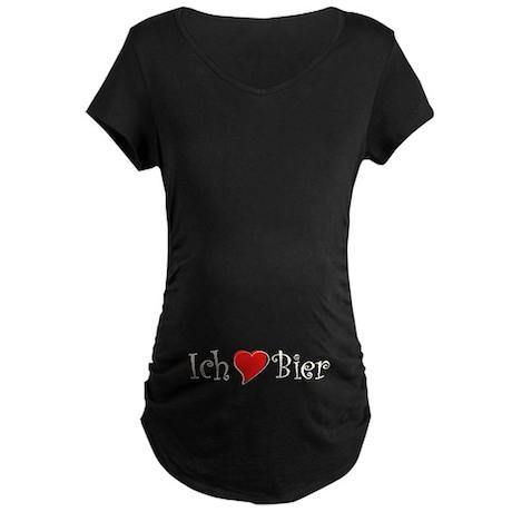 Ich liebe Bier Maternity Dark T-Shirt