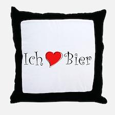 Ich liebe Bier Throw Pillow
