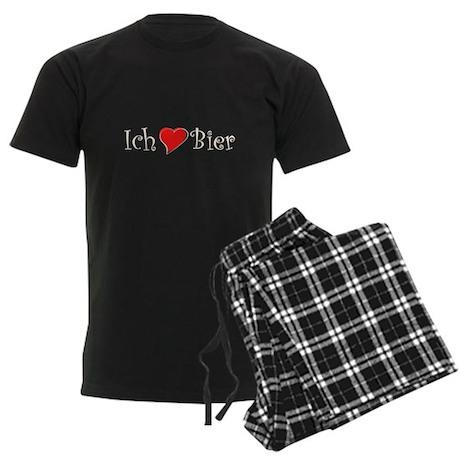 Ich liebe Bier Men's Dark Pajamas