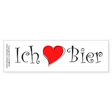 Ich liebe Bier Bumper Sticker