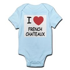I heart french chateaux Infant Bodysuit