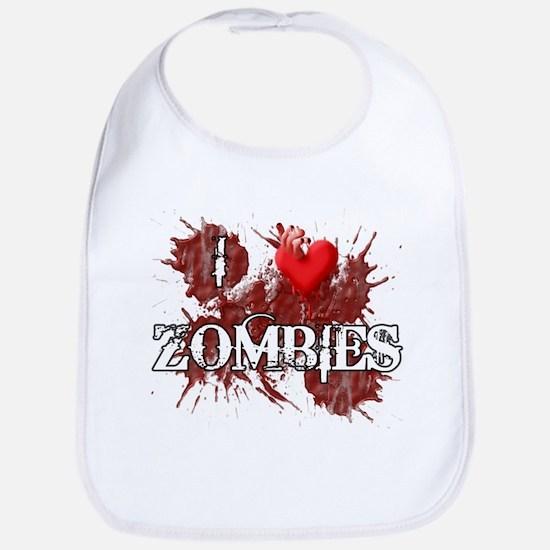 I Heart Zombies Bib