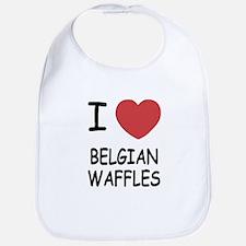 I heart belgian waffles Bib