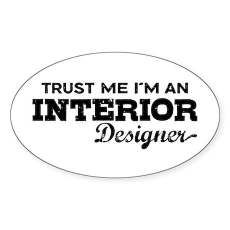 Interior Designer Sticker (Oval)