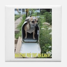 Waiting for the Mailman Tile Coaster