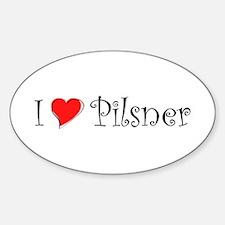 I Love Pilsner Sticker (Oval)