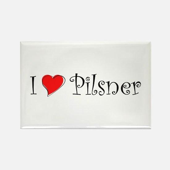 I Love Pilsner Rectangle Magnet