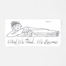 Reclining Buddha Aluminum License Plate