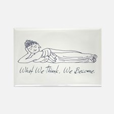 Reclining Buddha Rectangle Magnet
