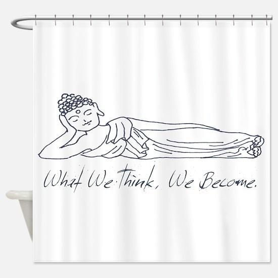 Reclining Buddha Shower Curtain