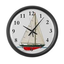 Cruising Racing Sloop Large Wall Clock