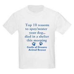 Top 10 Reason to Spay/neuter T-Shirt