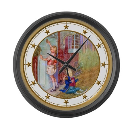 Alice Visits the Duchess Large Wall Clock