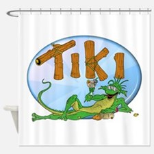 TIKI Lizard Shower Curtain