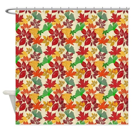 Autumn Leaves Bright Colors Shower Curtain By Digitalrealityart