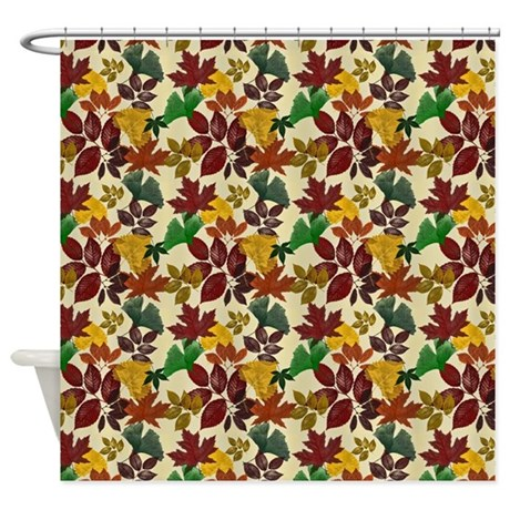 Autumn Leaves Darkened Colors Shower Curtain