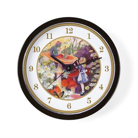 Alice & The Caterpillar Wall Clock