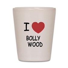 I heart bollywood Shot Glass