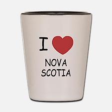 I heart nova scotia Shot Glass