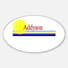 Addyson Oval Decal