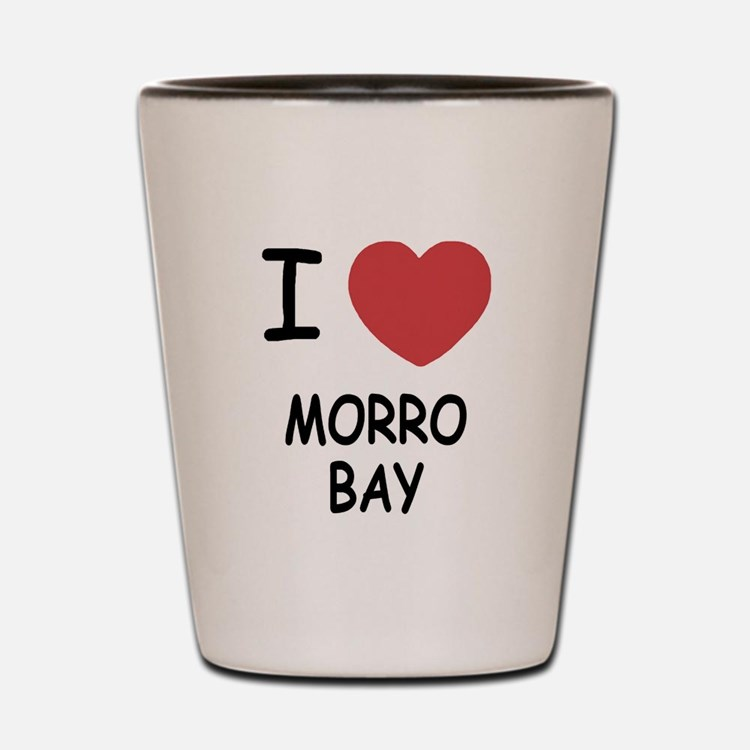 I heart morro bay Shot Glass