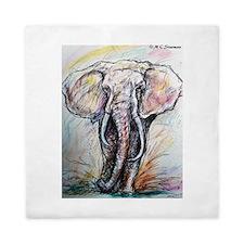 Elephant, wildlife, art, Queen Duvet