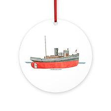 Diesel Tugboat Ornament (Round)
