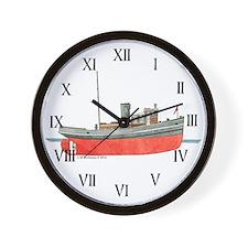 Diesel Tugboat Wall Clock