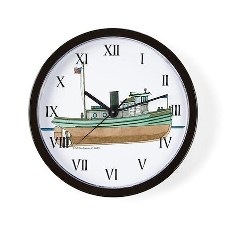Diesel Tugboat of 1926 Wall Clock