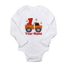 1st Birthday Dump Truck Long Sleeve Infant Bodysui