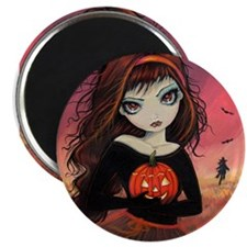 "Autumn Fire Halloween Art 2.25"" Magnet (100 pack)"