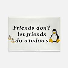 Friends don't let friends - Rectangle Magnet