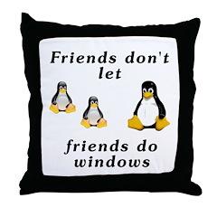 Friends don't let friends - Throw Pillow