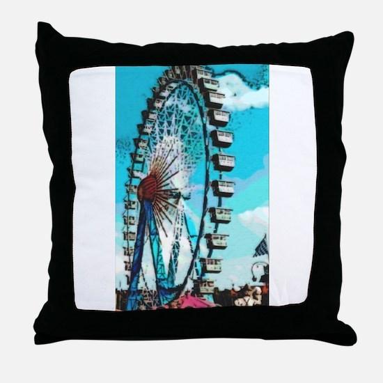 Big Ferris Wheel Throw Pillow