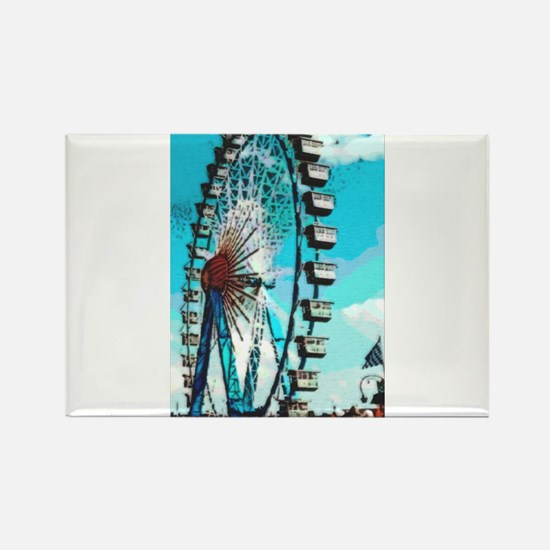 Big Ferris Wheel Rectangle Magnet (100 pack)