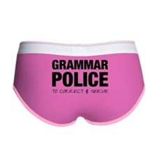 Grammar Police Women's Boy Brief