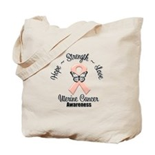Strength Uterine Cancer Tote Bag
