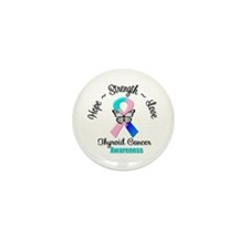 Strength Thyroid Cancer Mini Button (10 pack)