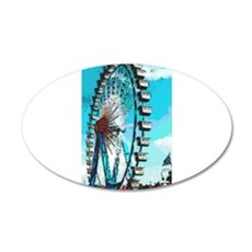 Big Ferris Wheel 22x14 Oval Wall Peel