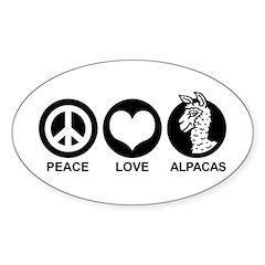 Peace Love Alpacas Decal