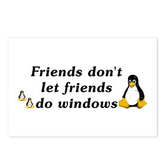 Friends don't let friends - Postcards (Package of